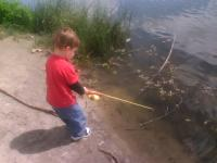 my youngest fisherman